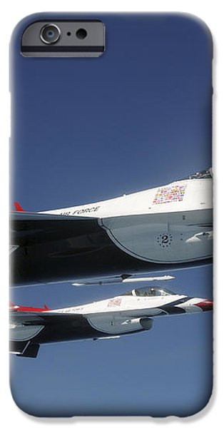 U.s. Air Force F-16 Thunderbirds iPhone Case by Stocktrek Images