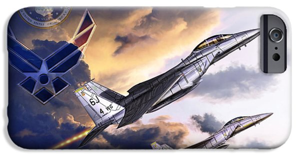 Recently Sold -  - Jet Star iPhone Cases - US Air Force iPhone Case by Kurt Miller