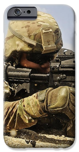 U.s. Air Force Soldier Fires The Mk48 iPhone Case by Stocktrek Images