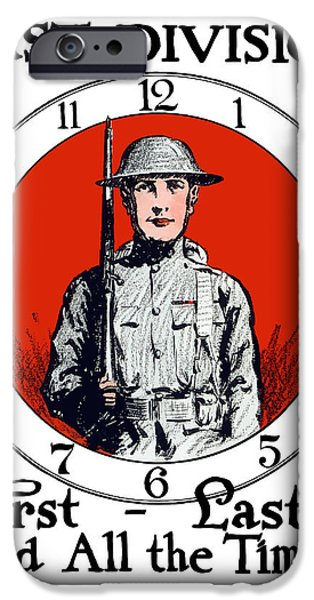 Wwi iPhone Cases - US Army First Division iPhone Case by War Is Hell Store