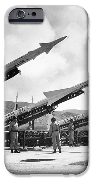 U.S. ARMY MISSILES, c1965 iPhone Case by Granger