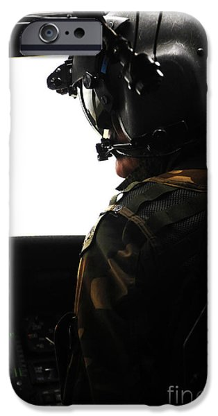 U.s. Army Officer Speaks To A Pilot iPhone Case by Stocktrek Images