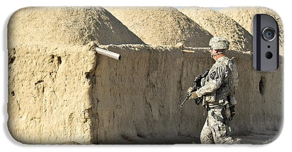 East Village iPhone Cases - U.s. Army Soldier Conducts A Dismounted iPhone Case by Stocktrek Images