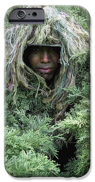 Army Men iPhone Cases - U.s. Army Soldier Demonstrates The Use iPhone Case by Stocktrek Images