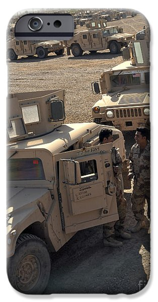 Negotiating iPhone Cases - U.s. Army Soldier Speaks With Iraqi iPhone Case by Stocktrek Images