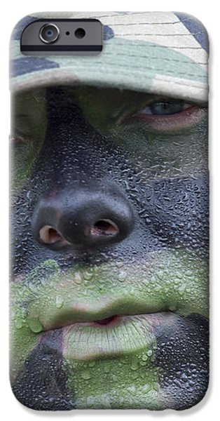 U.s. Army Soldier Wearing Camouflage iPhone Case by Stocktrek Images