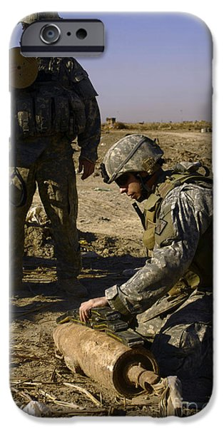 Baghdad iPhone Cases - U.s. Army Soldiers Preparing iPhone Case by Stocktrek Images