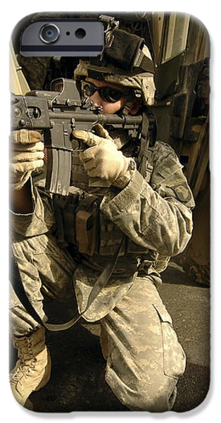 U.s. Army Soldiers Providing Overwatch iPhone Case by Stocktrek Images
