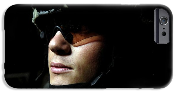 Baghdad iPhone Cases - U.s. Army Specialist Waits To Dismount iPhone Case by Stocktrek Images