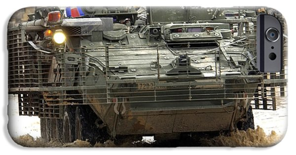 Iraq iPhone Cases - U.s. Army Stryker Combat Vehicles iPhone Case by Stocktrek Images