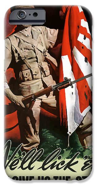 Flag iPhone Cases - US Army World War Two iPhone Case by War Is Hell Store