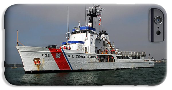 Steadfast iPhone Cases - U.s. Coast Guard Cutter Steadfast iPhone Case by Michael Wood