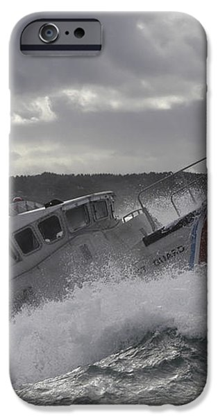 U.s. Coast Guard Motor Life Boat Brakes iPhone Case by Stocktrek Images