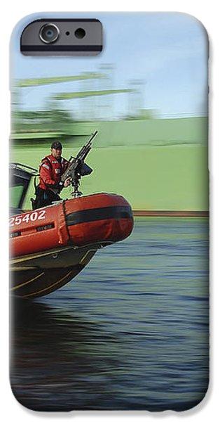 U.s. Coast Guard Officer Mans A M240b iPhone Case by Stocktrek Images