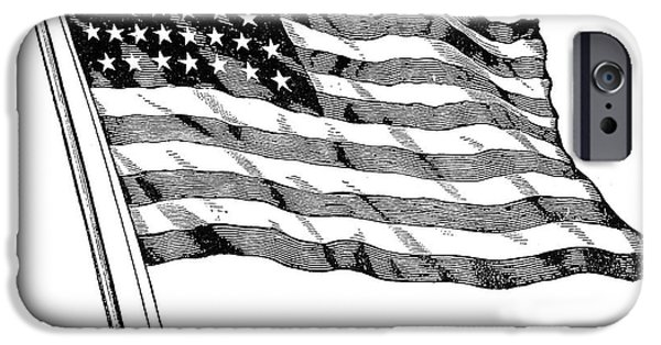 Old Glory iPhone Cases - U.S. FLAG, 19th CENTURY iPhone Case by Granger