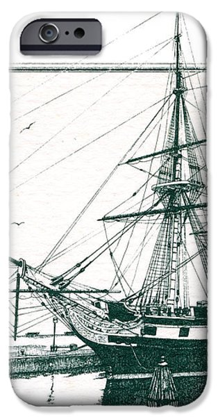 US Frigate Constellation iPhone Case by John D Benson
