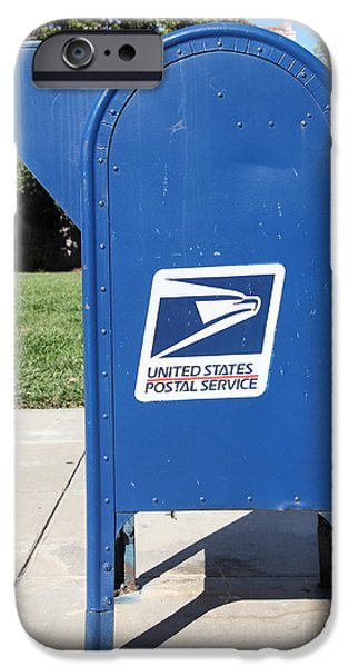 US Mail Box . 5D18813 iPhone Case by Wingsdomain Art and Photography