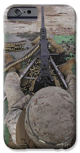 U.s. Marine Fires An M2 .50-caliber iPhone Case by Stocktrek Images