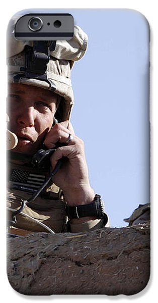 U.s. Marine Gives Directions To Units iPhone Case by Stocktrek Images