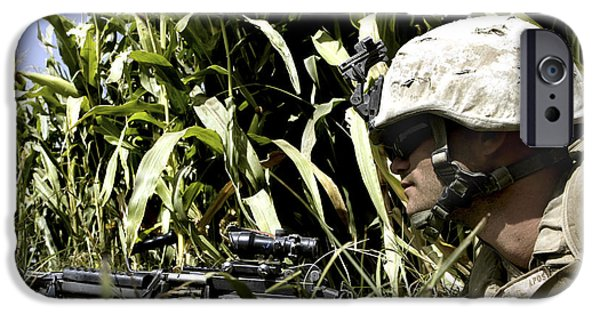 Fed iPhone Cases - U.s. Marine Maintains Security iPhone Case by Stocktrek Images