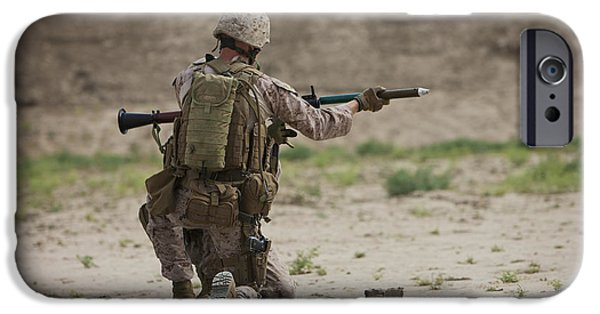 Rpg iPhone Cases - U.s. Marine Prepares A Fragmentation iPhone Case by Terry Moore