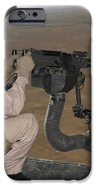 U.s. Marine Test Firing An M240 Heavy iPhone Case by Stocktrek Images
