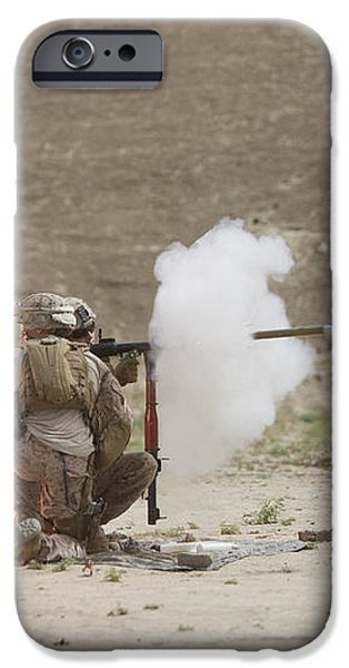 U.s. Marines Fire A Rpg-7 Grenade iPhone Case by Terry Moore