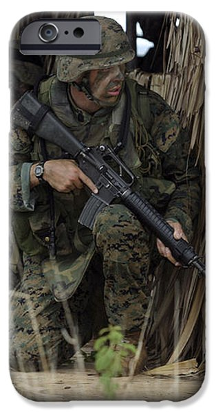 U.s. Marines Prepare To Enter A House iPhone Case by Stocktrek Images