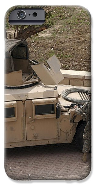 U.s. Military Soldiers Take A Well iPhone Case by Terry Moore