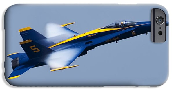Hornet iPhone Cases - US Navy Blue Angels High Speed Pass iPhone Case by Dustin K Ryan