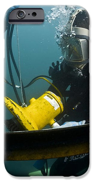 U.s. Navy Diver Instructs A Barbados iPhone Case by Stocktrek Images