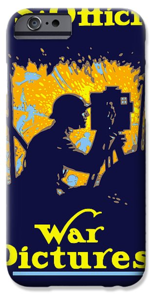 One iPhone Cases - U.S. Official War Pictures iPhone Case by War Is Hell Store