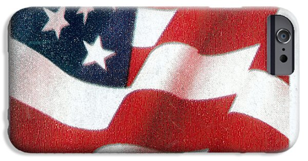 Old Glory iPhone Cases - U.s. Postage Stamp, 2003 iPhone Case by Granger