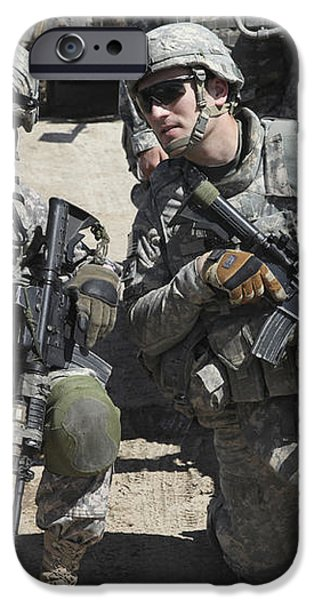 U.s. Soldiers Coordinate Security iPhone Case by Stocktrek Images
