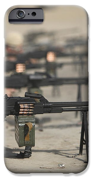 U.s. Soldiers Firing Pk 7.62 Mm iPhone Case by Terry Moore
