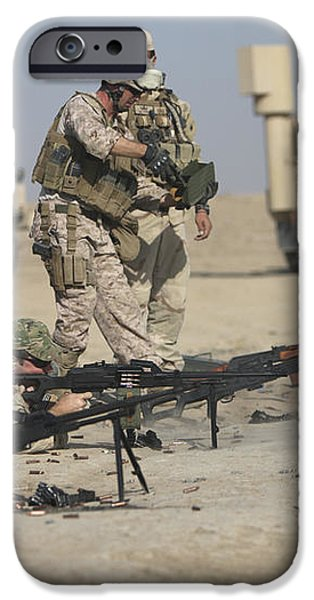 U.s. Soldiers Prepare To Fire Weapons iPhone Case by Terry Moore