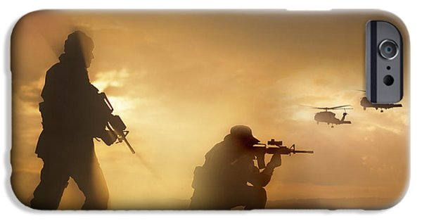 Weapons iPhone Cases - U.s. Special Forces Provide Security iPhone Case by Tom Weber