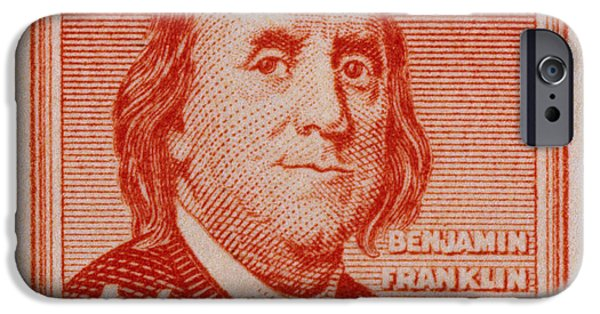 Franklin iPhone Cases - U.s. Stamp: Franklin iPhone Case by Granger