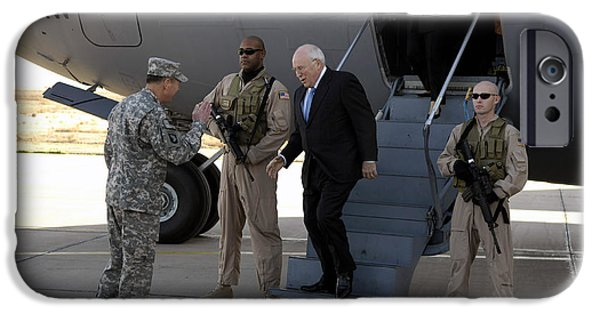 Baghdad iPhone Cases - U.s. Vice President, Dick Cheney iPhone Case by Stocktrek Images