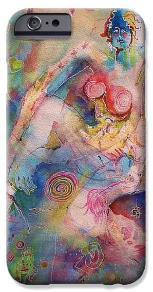 Fourth Of July Mixed Media iPhone Cases - USA One of a Kind iPhone Case by Claire Sallenger Martin