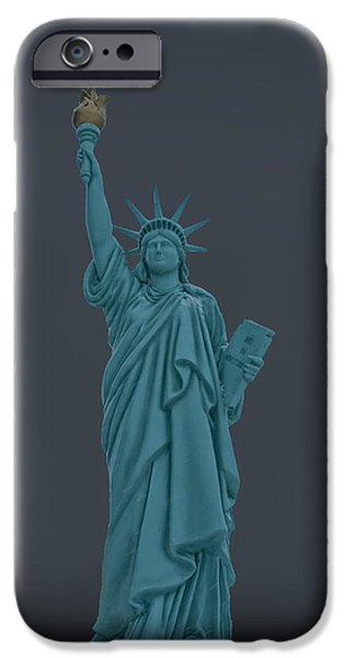 Goddess Of Liberty iPhone Cases - USA Statue of Liberty iPhone Case by LeeAnn McLaneGoetz McLaneGoetzStudioLLCcom