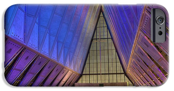 United States iPhone Cases - USAF Academy Chapel - 3 iPhone Case by David Bearden