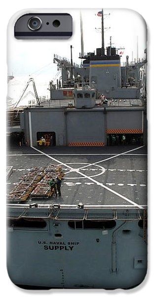 Usns Supply Conducts A Replenishment iPhone Case by Stocktrek Images
