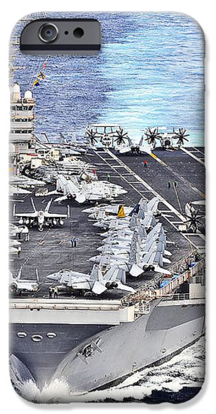 Uss Abraham Lincoln Transits iPhone Case by Stocktrek Images