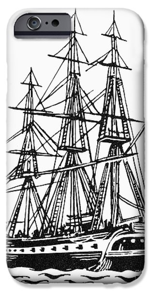 Constitution iPhone Cases - Uss Constitution, 1812 iPhone Case by Granger