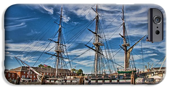 Constitution iPhone Cases - USS Constitution-Boston iPhone Case by Joann Vitali