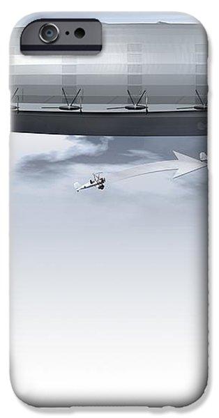 Uss Macon, Artwork iPhone Case by Claus Lunau