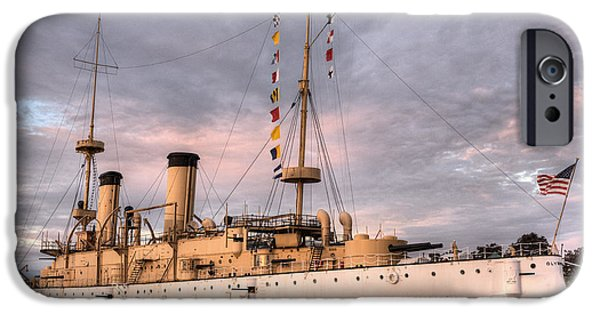 Wwi iPhone Cases - USS Olympia iPhone Case by JC Findley