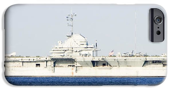 Yorktown iPhone Cases - USS Yorktown Panoramic iPhone Case by Michael Clubb