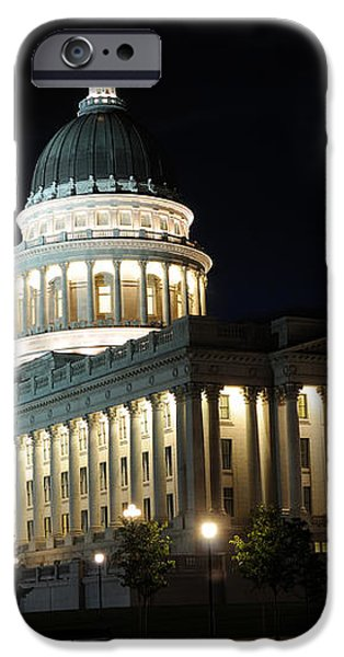 Utah Capitol at Night iPhone Case by Gary Whitton
